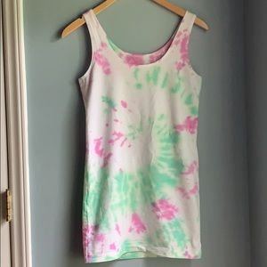 Lysse' | Custom Tie Dyed Cotton Stretch Tank Top M